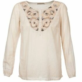 Cream  LILA  women's Blouse in Beige