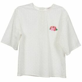 Manoush  FLOWER BADGE  women's Blouse in White