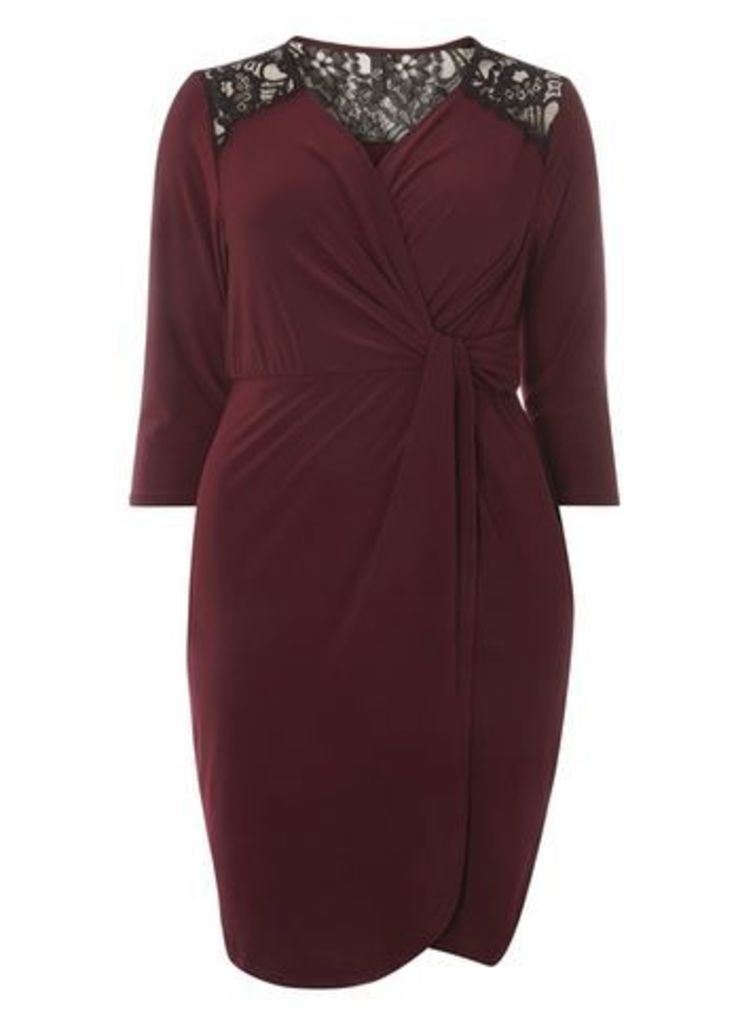 Purple Hourglass Fit Wrap Dress, Purple