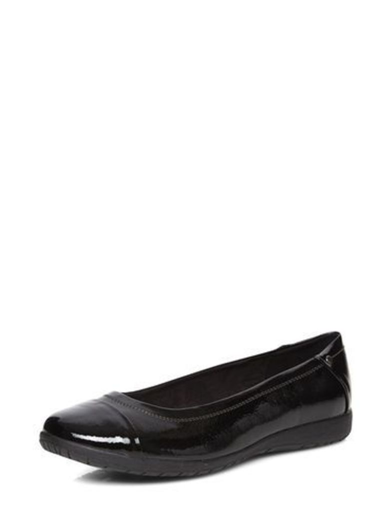 Black Patent Comfort Pump, Black