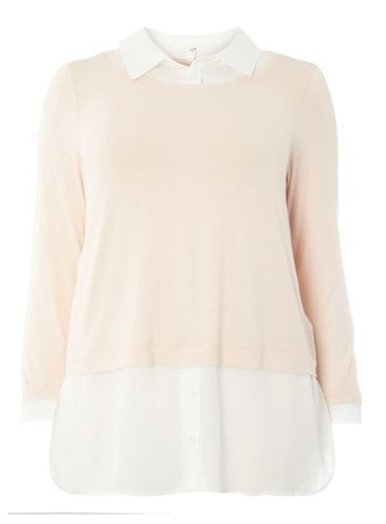Blush And Ivory 2-in-1 Shirt, Dark Multi