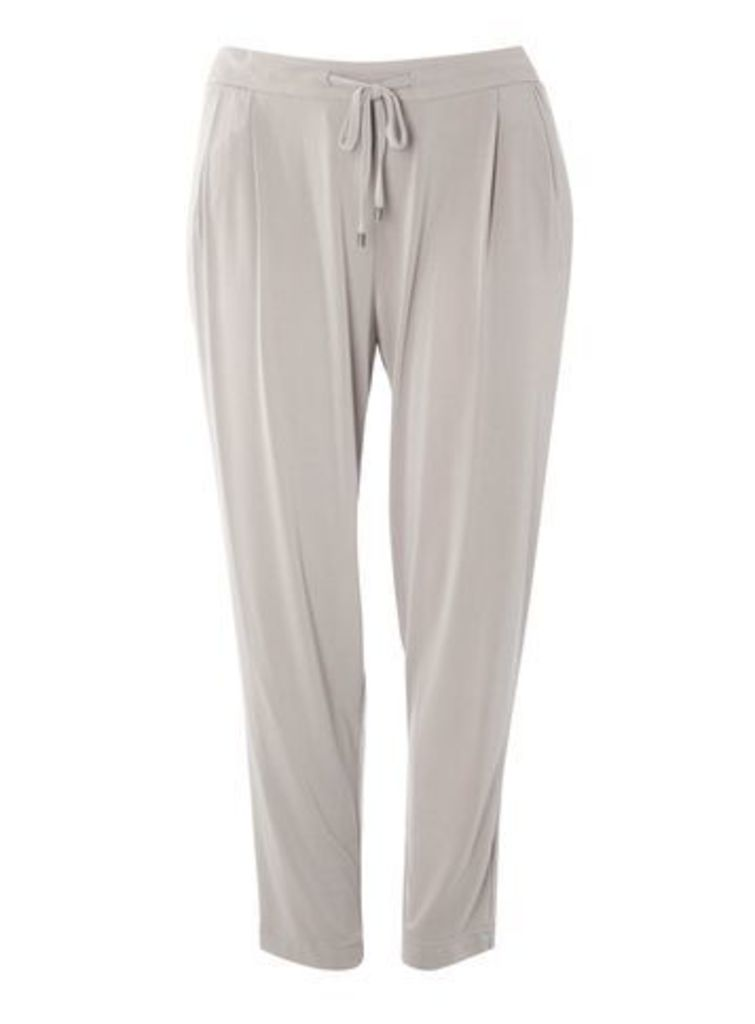 Grey Tapered Leg Trousers, Grey