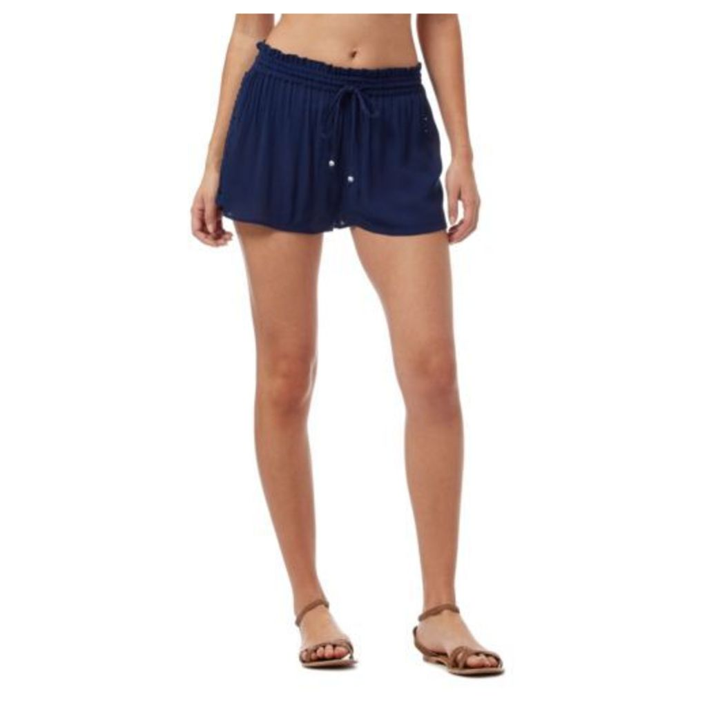 Beach Collection Womens Navy Crepe Shorts From Debenhams