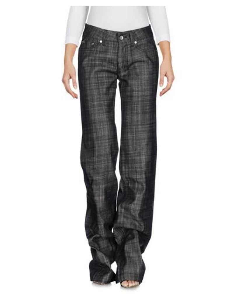 HOGAN DENIM Denim trousers Women on YOOX.COM