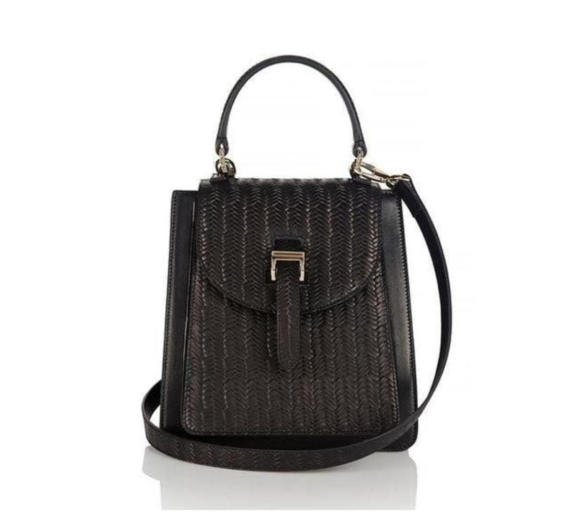 Floriana Mini Cross Body Bag Black Woven
