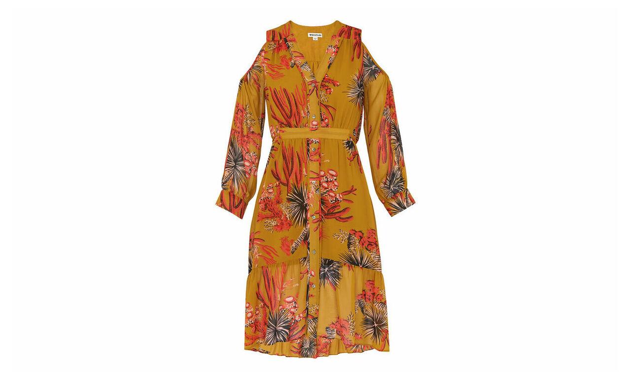 Cactus Cold Shoulder Dress