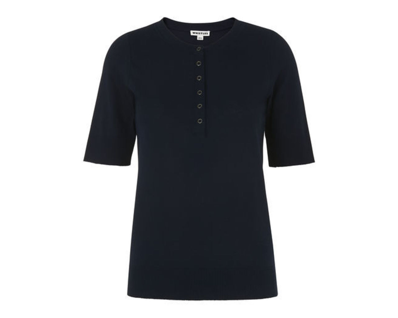 Button Front Henley Tee