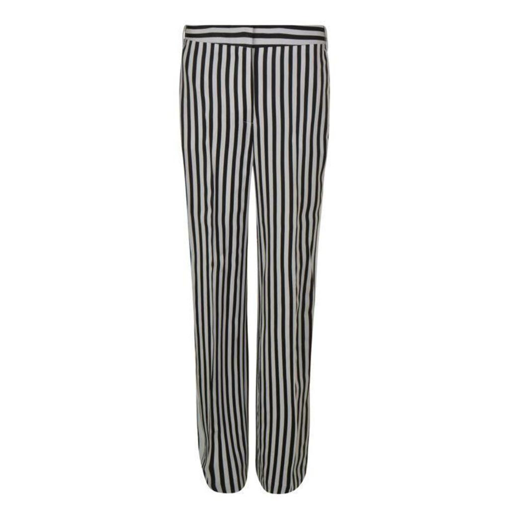 VICTORIA BY VICTORIA BECKHAM Wide Leg Stripe Trousers