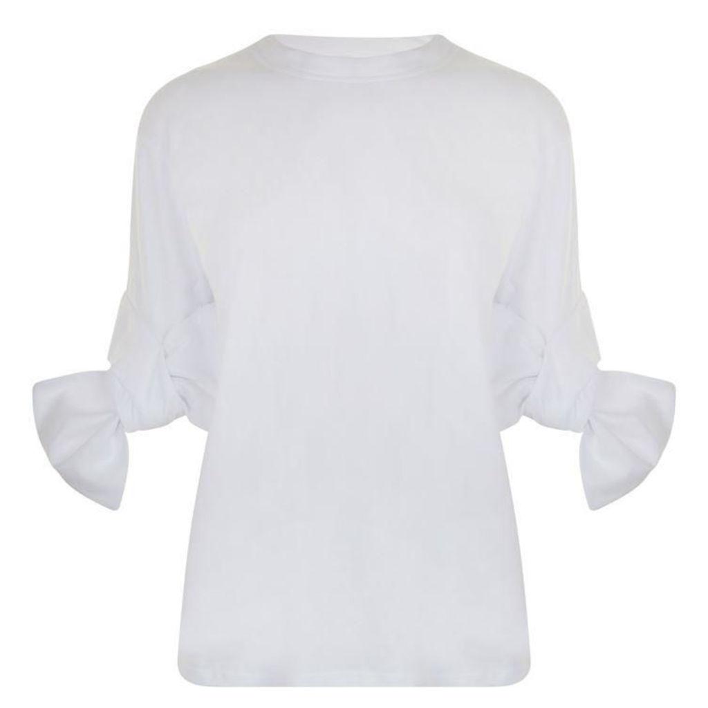 VICTORIA BY VICTORIA BECKHAM Bow Cuff T Shirt