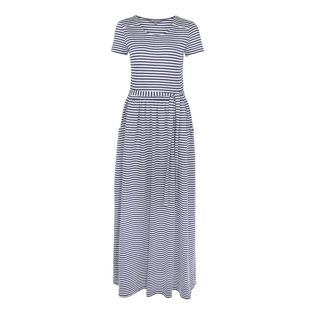 Stripe Jersey Maxi Dress