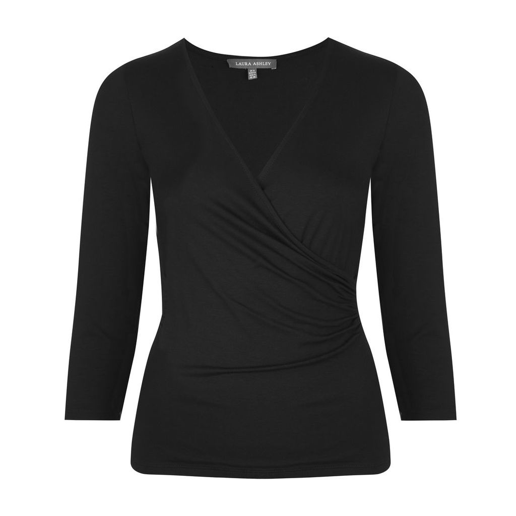 Wrap Front Jersey Top