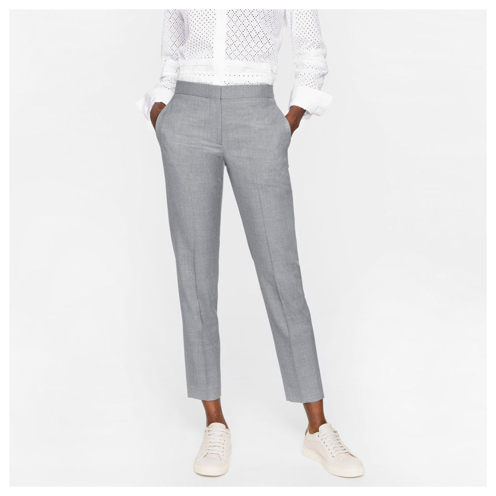 A Suit To Travel In - Women's Classic-Fit Grey Wool Trousers
