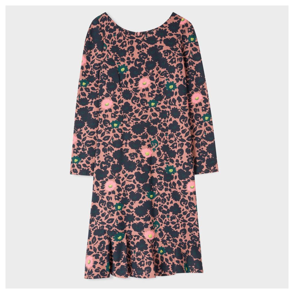 Women's Dusty Pink 'Floral' Print Dress