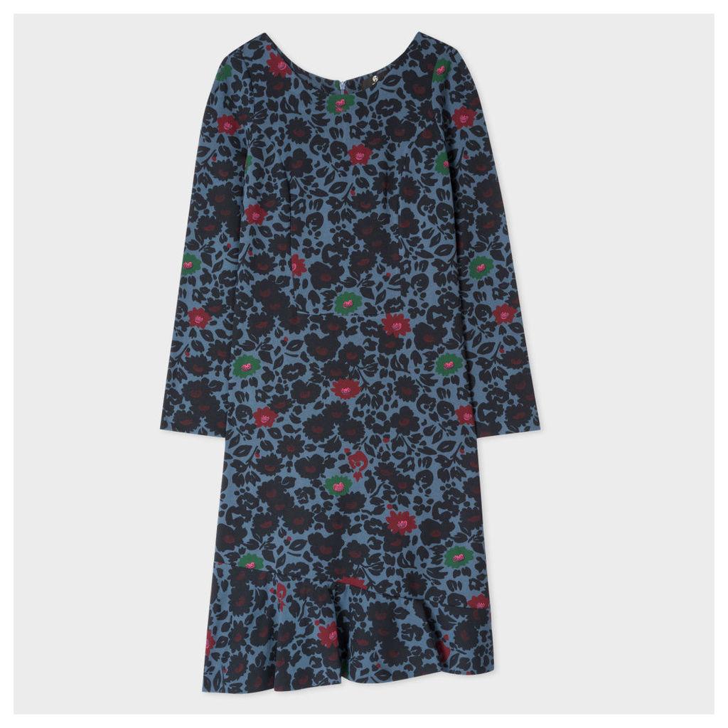Women's Petrol 'Floral' Print Dress