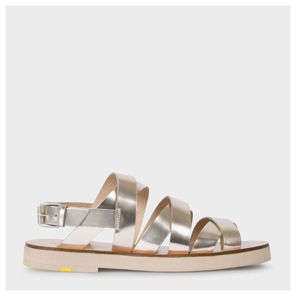 Women's Metallic Silver Leather 'Rio' Sandals