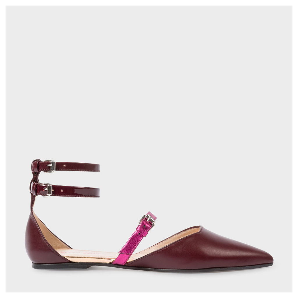 Women's Bordeaux Leather 'Rosie' Flats