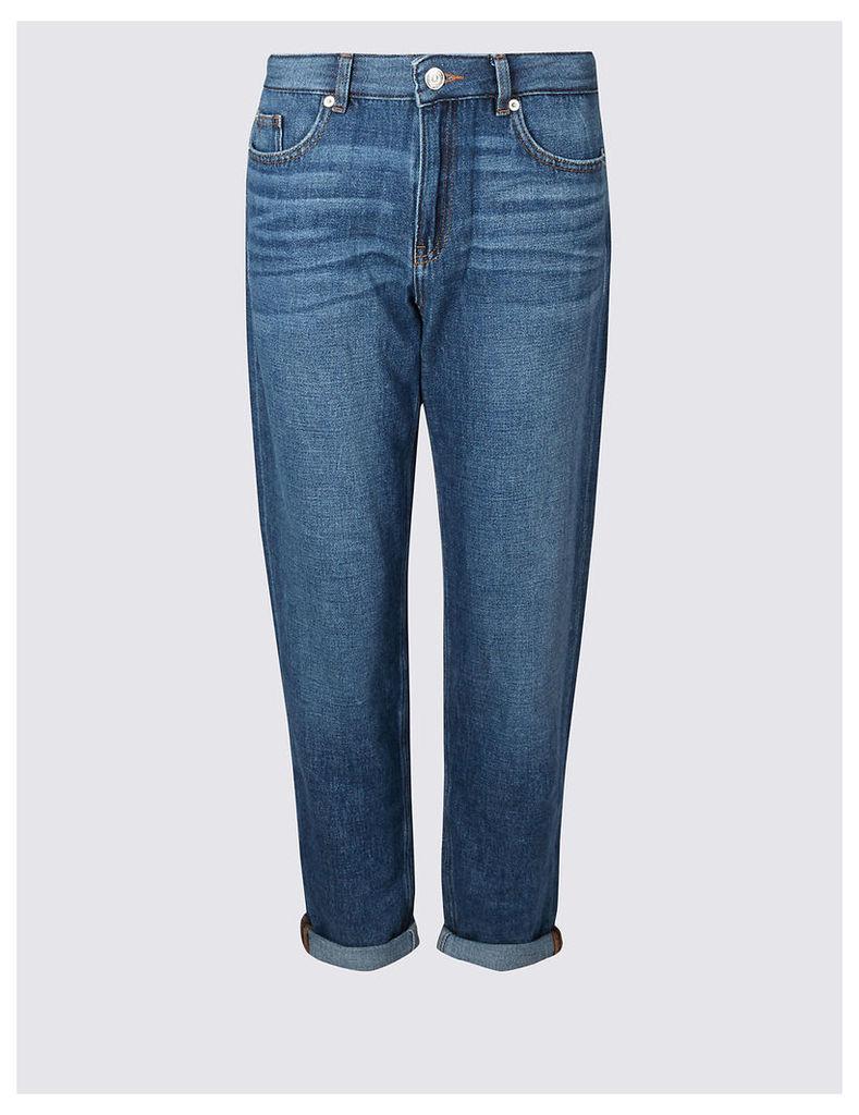 Limited Edition Boyfriend Mid Rise Slim Leg Jeans