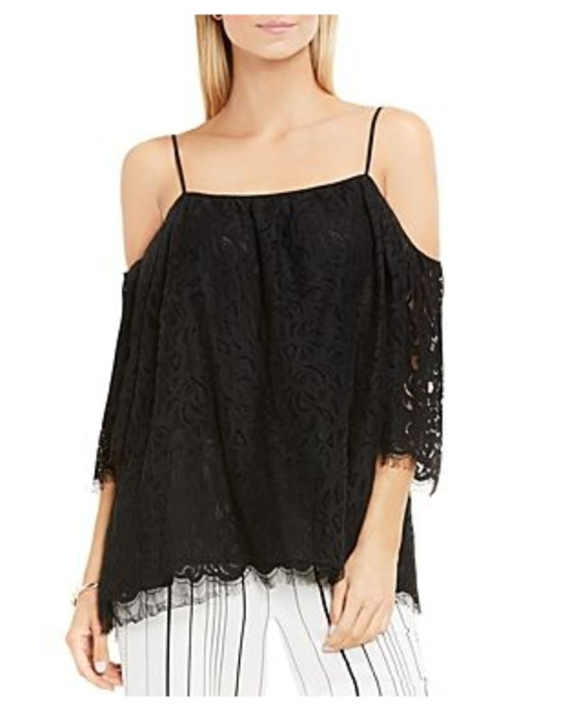 Vince Camuto Cold Shoulder Lace Top