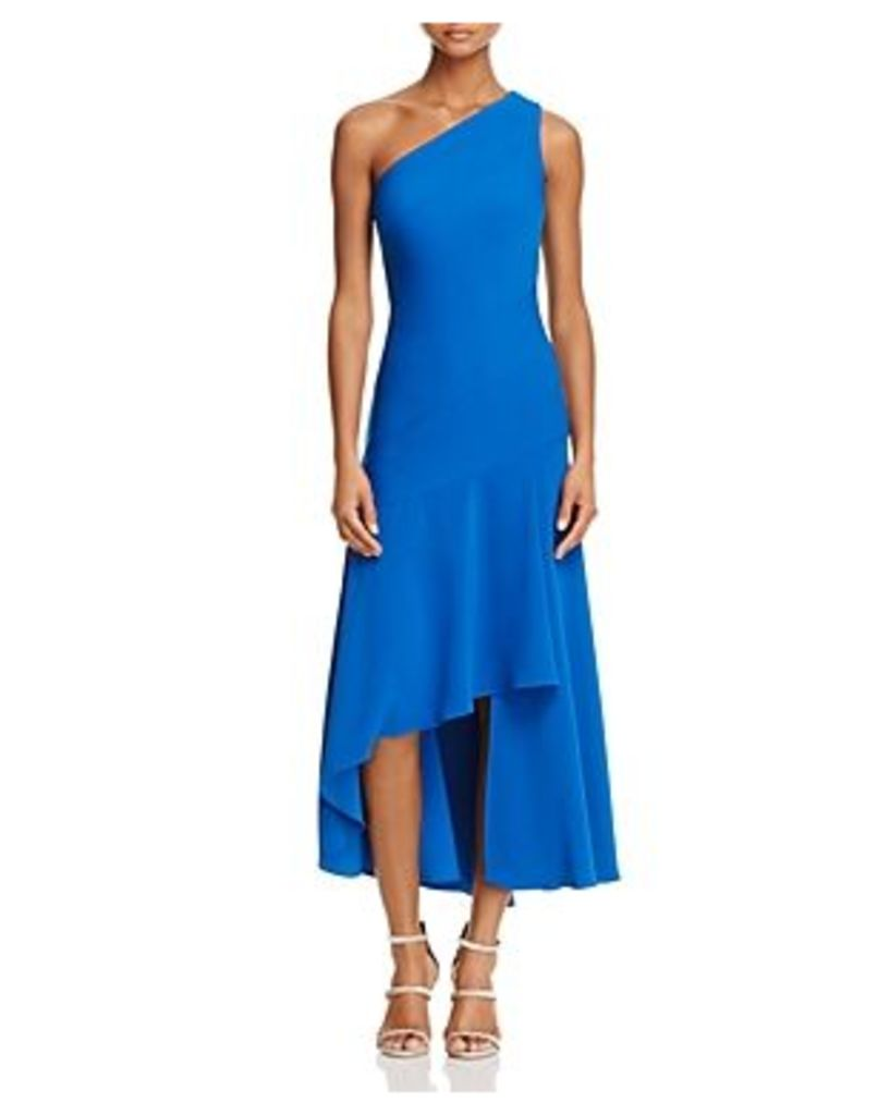 Carmen Marc Valvo Infusion One Shoulder High/Low Dress