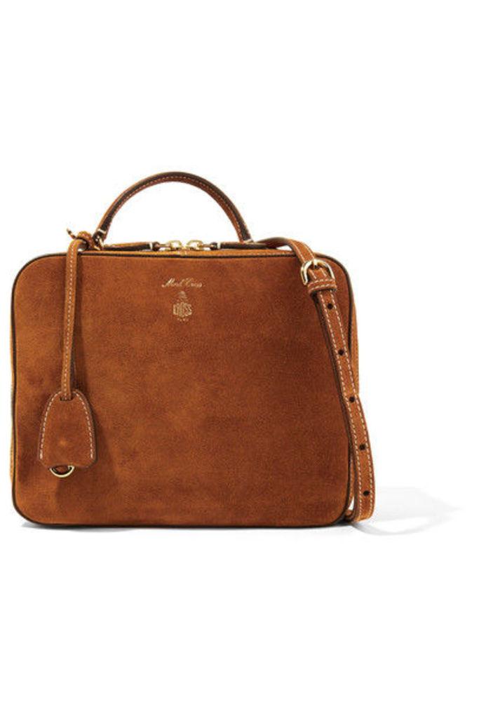 Mark Cross - Laura Suede Shoulder Bag - Brown