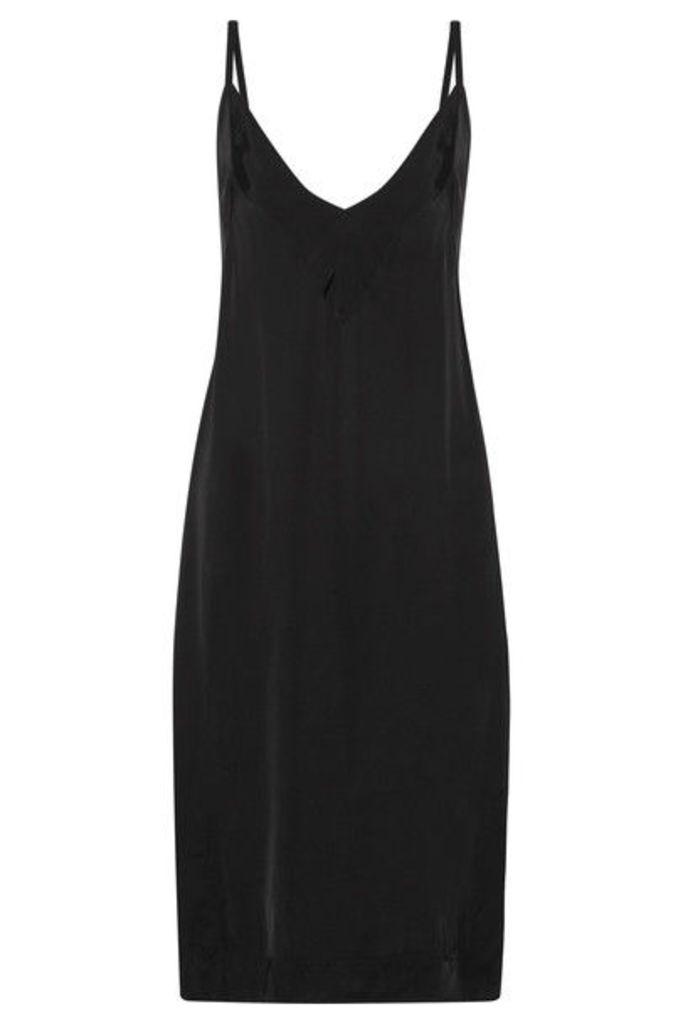 Bassike - Charmeuse Slip Dress - Black
