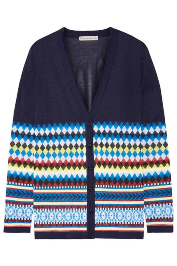 Mary Katrantzou - Deino Jacquard-knit Cardigan - Midnight blue
