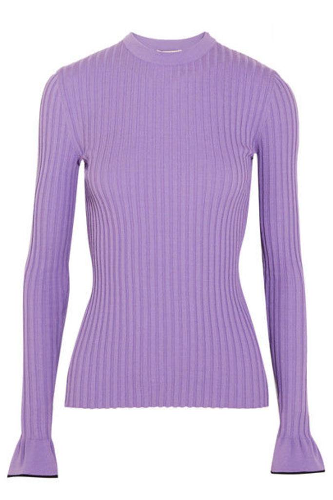Emilio Pucci - Ribbed-knit Top - Lavender