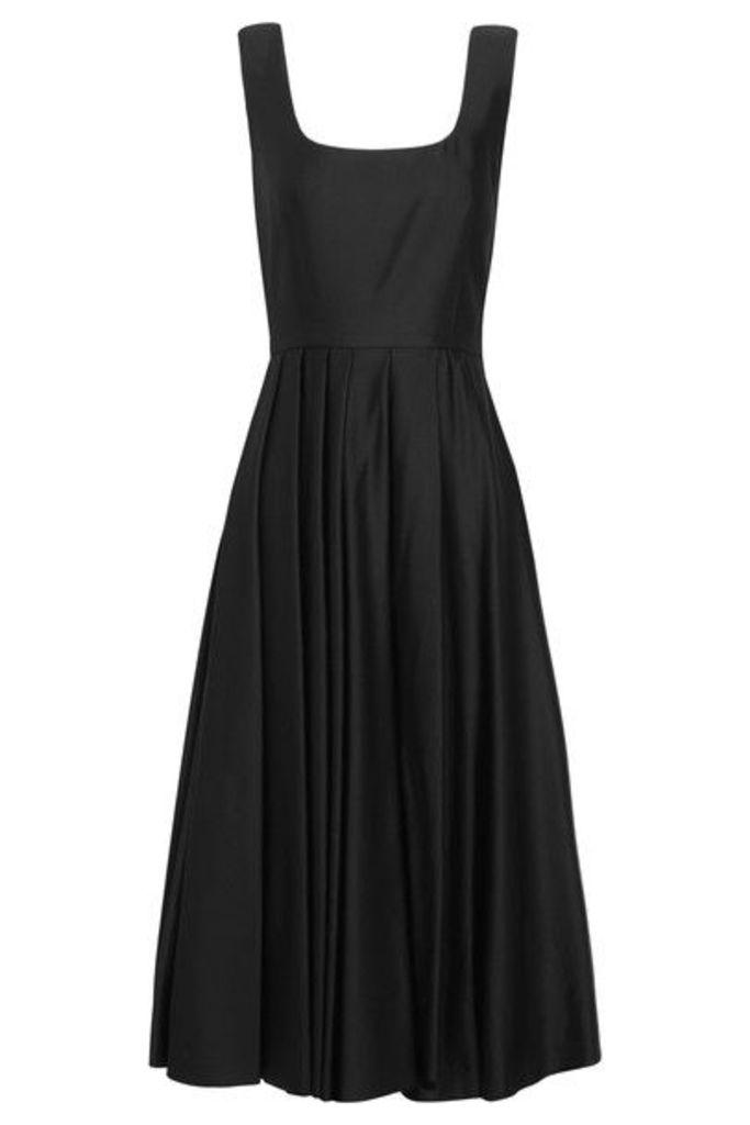 A.W.A.K.E. - Pleated Satin-jersey Dress - Black