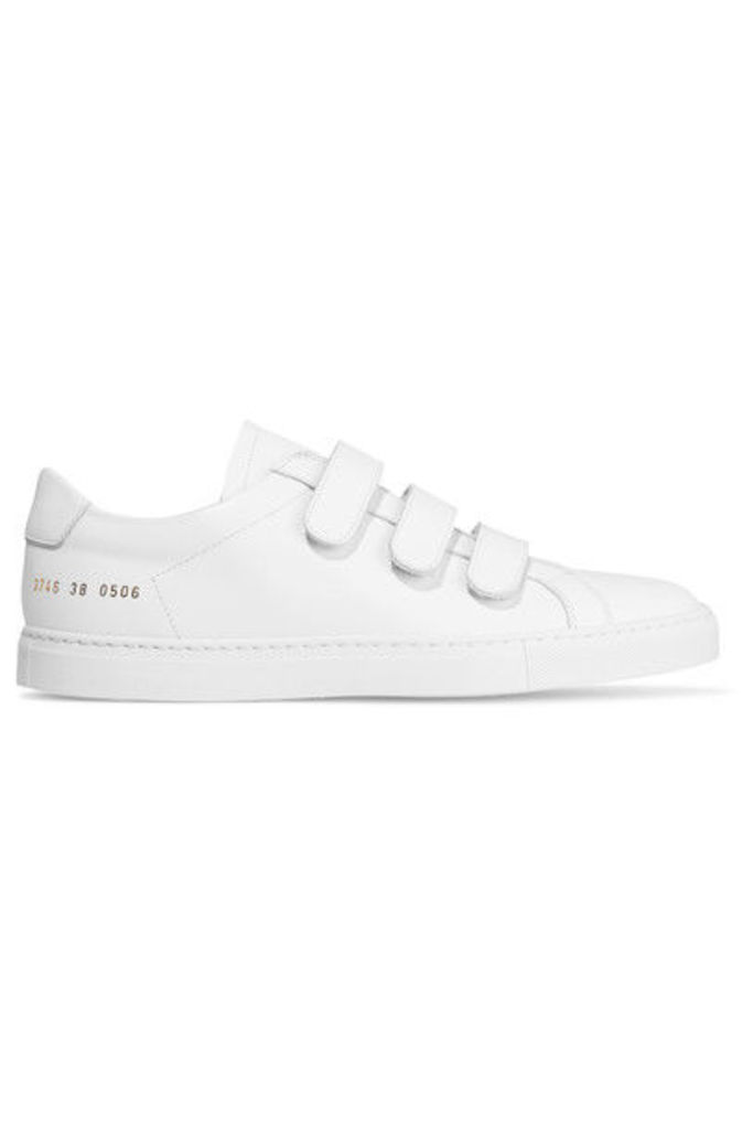Common Projects - Achilles Three Strap Leather Sneakers - White
