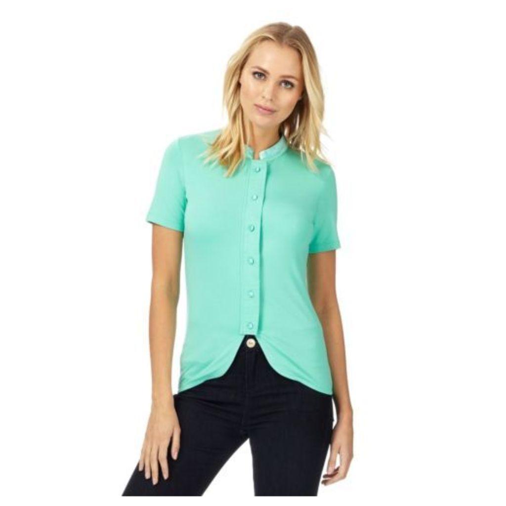 Racing Green Womens Green Contrast Trim Shirt From Debenhams 16