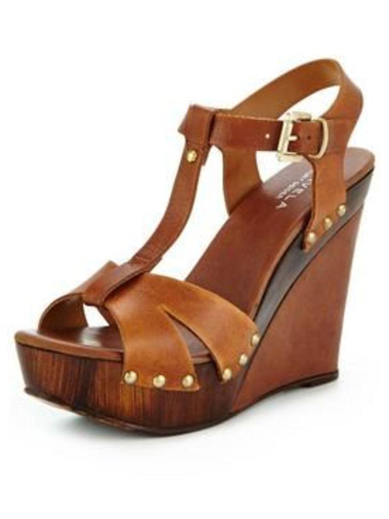 Carvela Katey Wooden Wedge - Tan