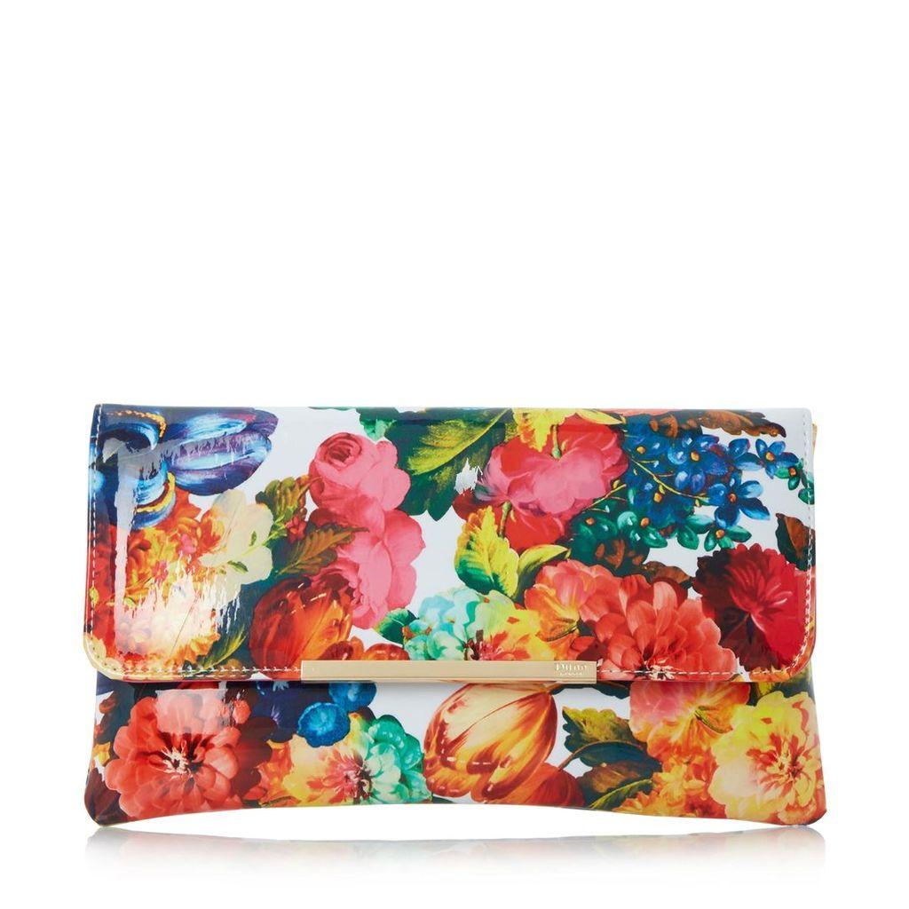 Bower Floral Print Clutch Bag