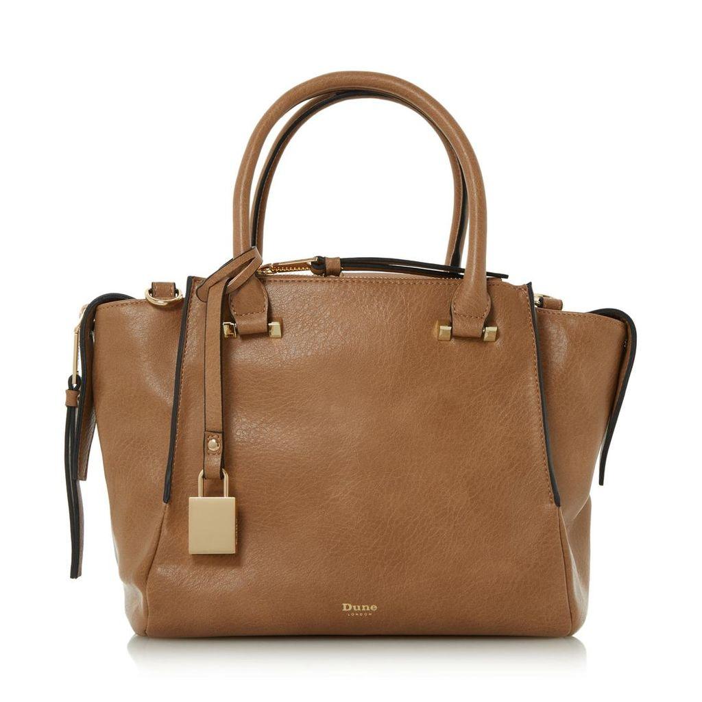 Delfie Triple Zip Compartment Winged Handbag