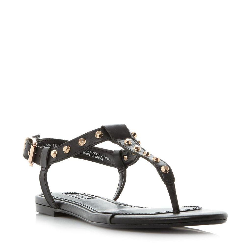 Laciee Studded Toe Post Flat Sandal