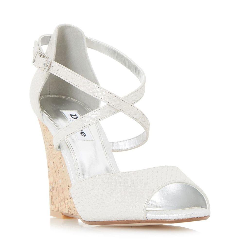Kasino Cross Strap Wedge Sandal