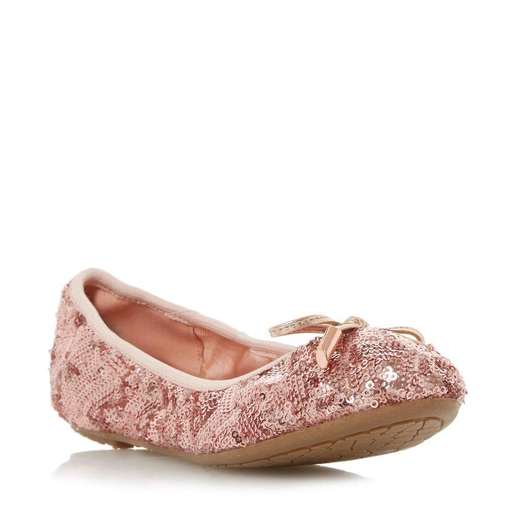 Huddson Round Toe Fold Up Ballerina Shoe