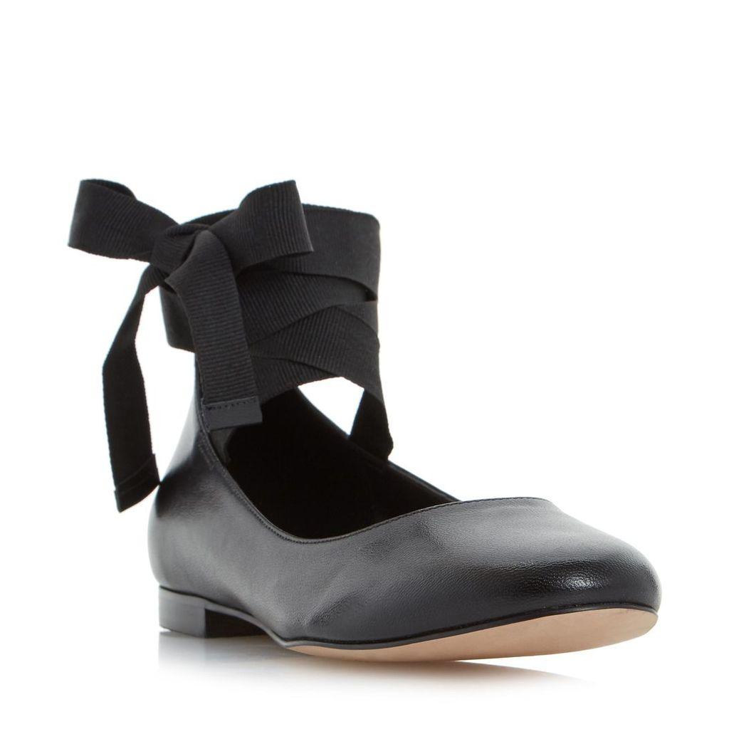 Handsel Ribbon Tie Up Ballerina Shoe