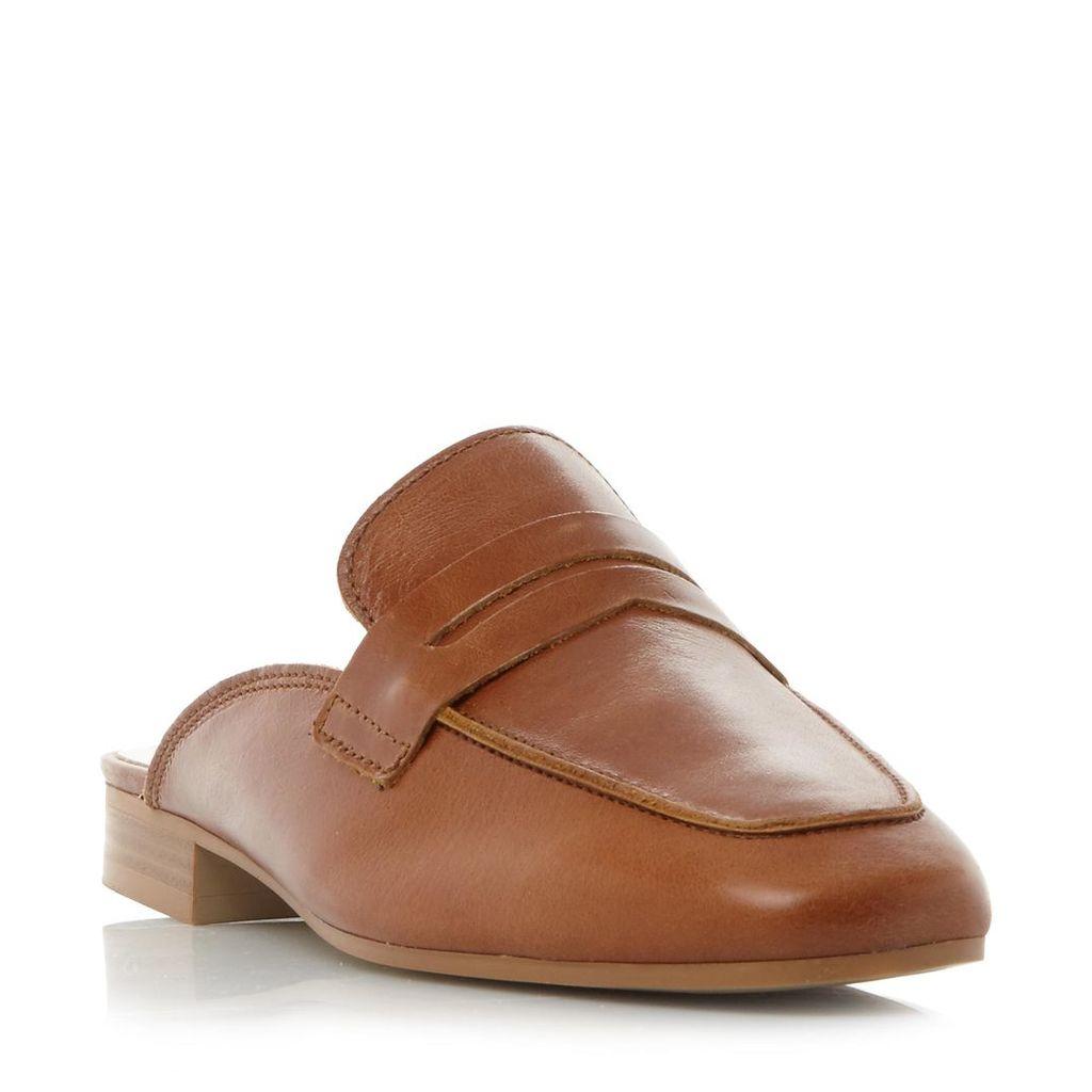Gaze Backless Penny Saddle Loafer Shoe