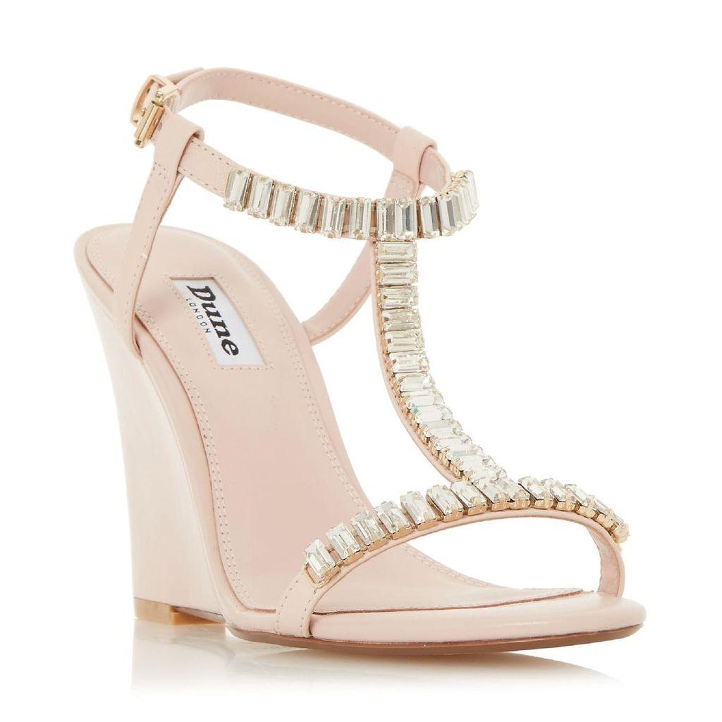 Maitai Jewelled T-Bar Wedge Sandal