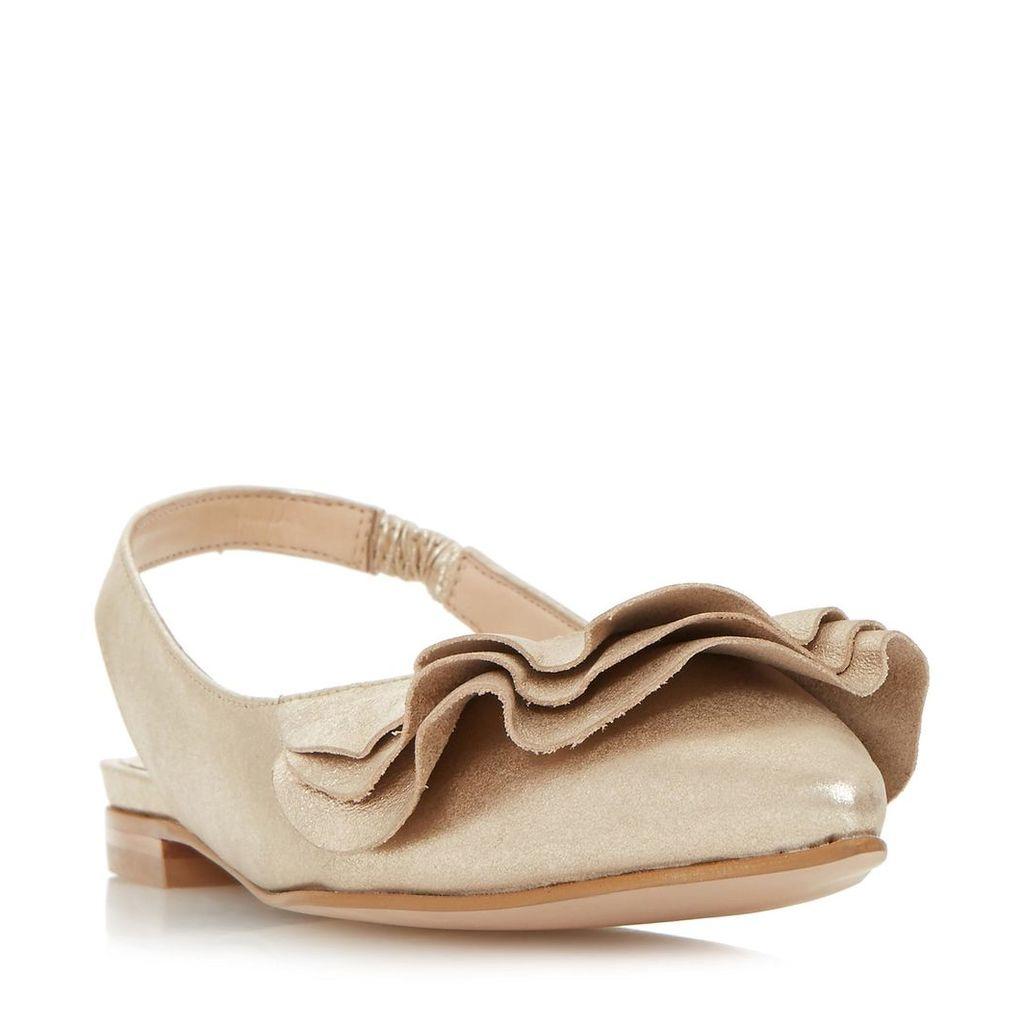 Candy Ruffle Detail Flat Shoe