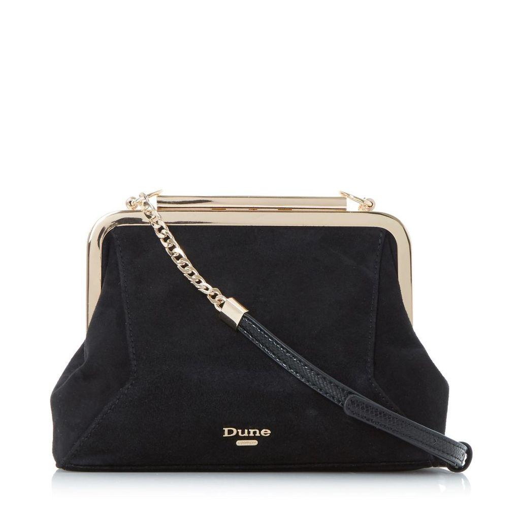 Elegance Soft Framed Suede Bag