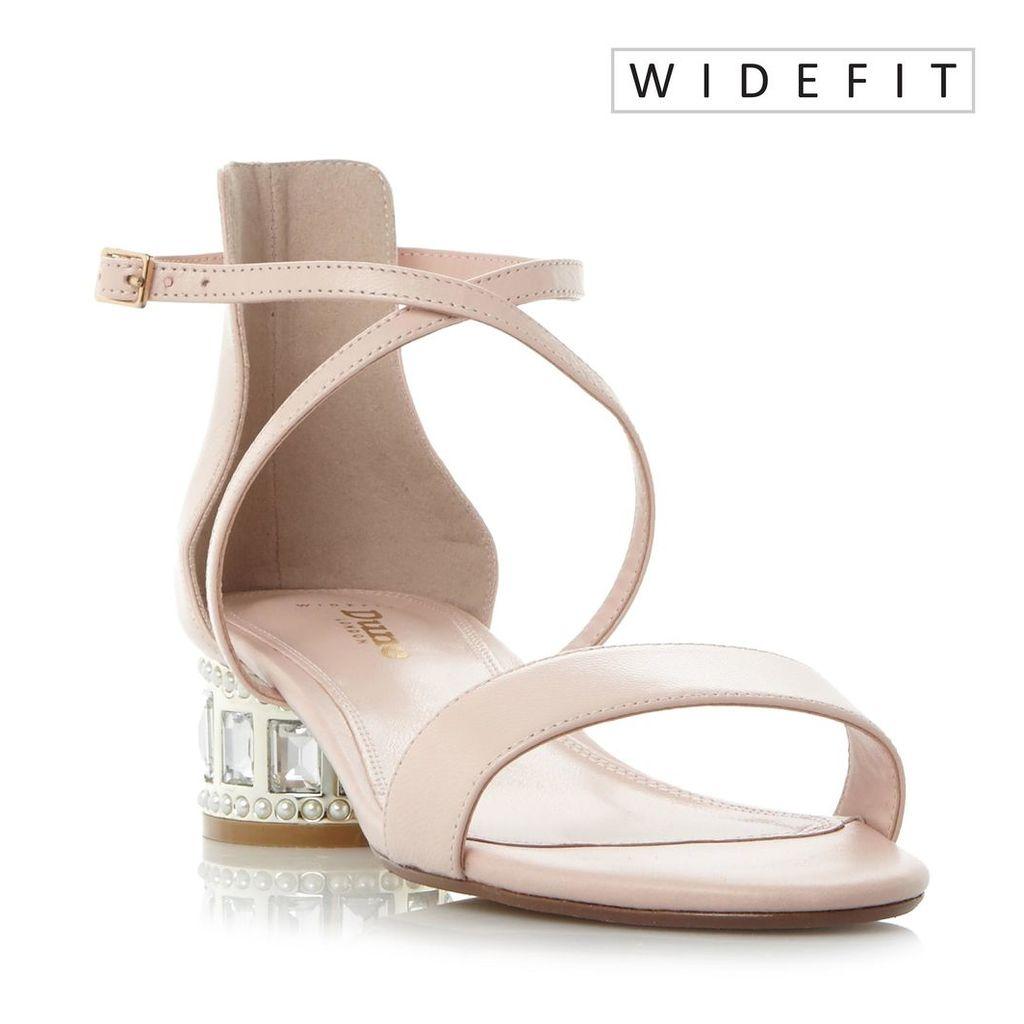W Mermaid Jewel And Pearl Embellished Heel Sandal