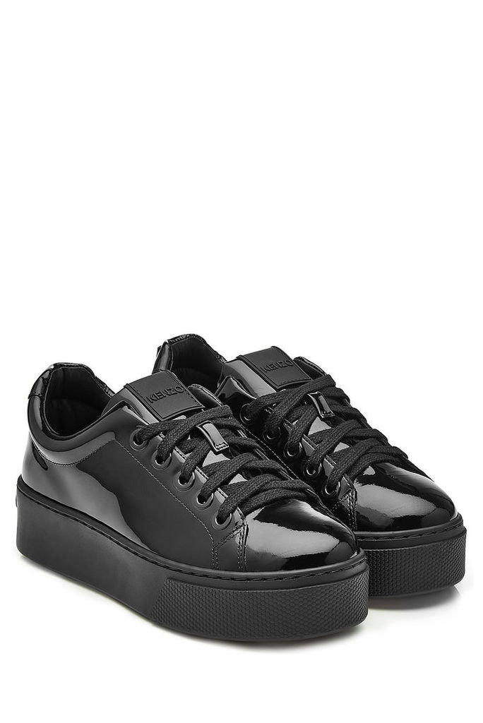 Kenzo Patent Leather Platform Sneakers