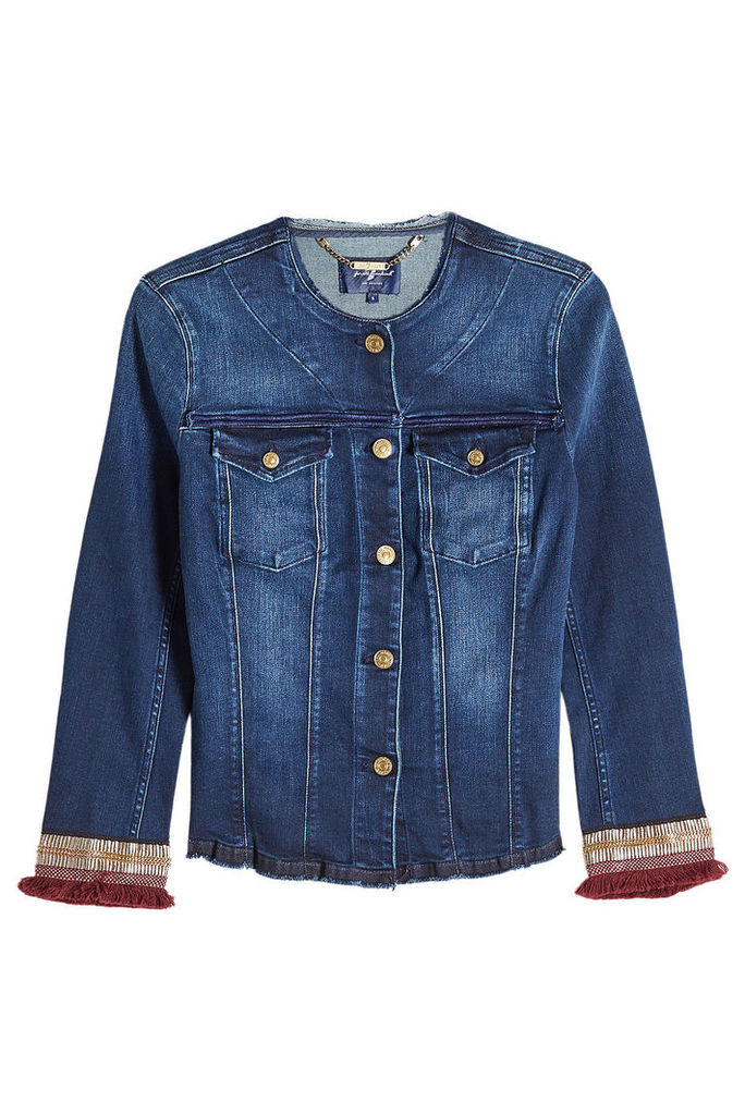 Seven for all Mankind Embroidered Denim Jacket