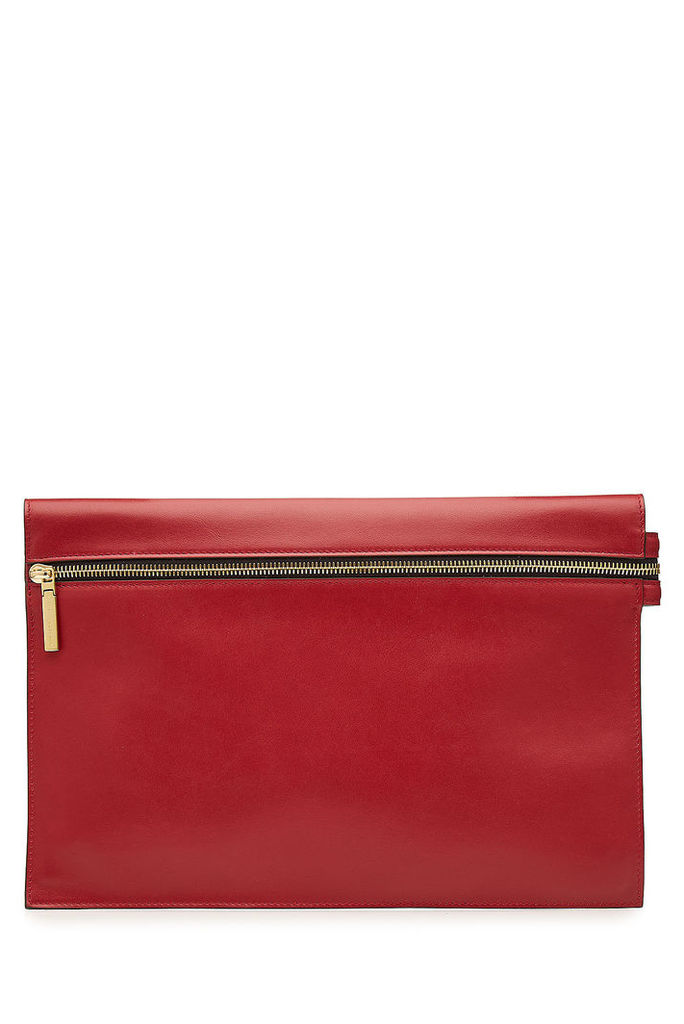 Victoria Beckham Zipped Leather Clutch