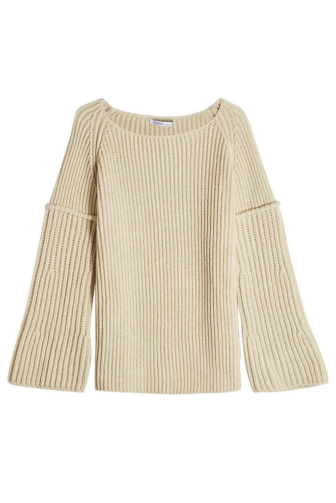 Agnona Ribbed Pullover with Wool