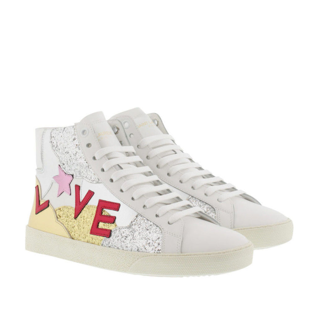 Saint Laurent Sneakers - Sl/06 Love High Top Sneaker White/Multi - in white, colorful - Sneakers for ladies