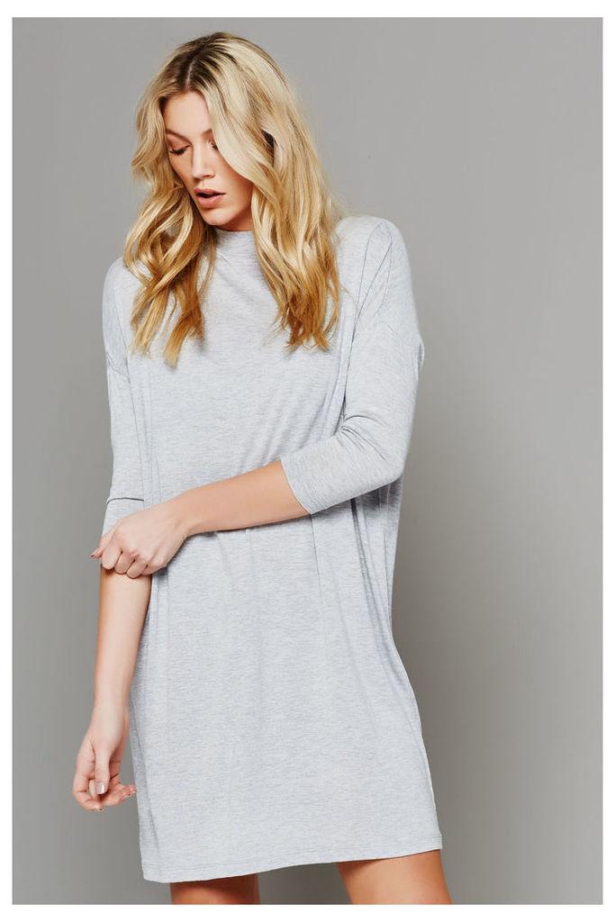 Vila Chaos 3/4 Dress - Light Grey