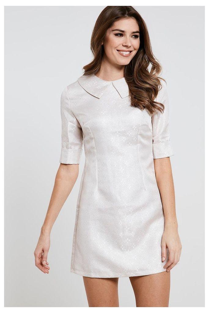 Fashion Union A-Line Collar Dress - Pink