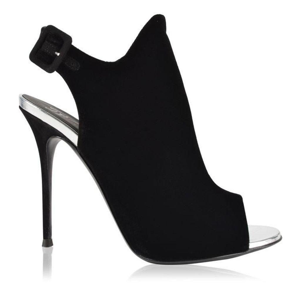GIUSEPPE ZANOTTI Velvet Heeled Boots